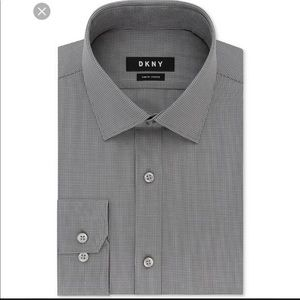 DKNY slim fit stretch dress shirt 15 32/33